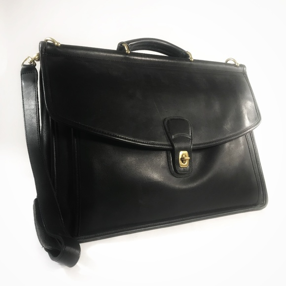 865a2847ec Coach Handbags - Coach Beekman Vintage Black Leather Briefcase